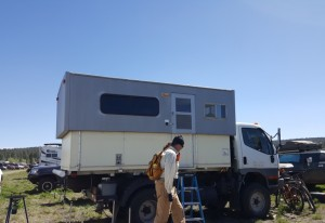 Another one of a kind Fuso-based camper.