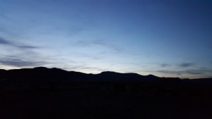 Sunset from the Hot Creek Campground.