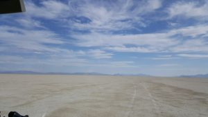 A view of the Black Rock Desert Playa.
