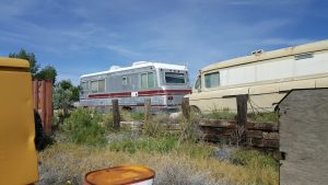Two old RVs.